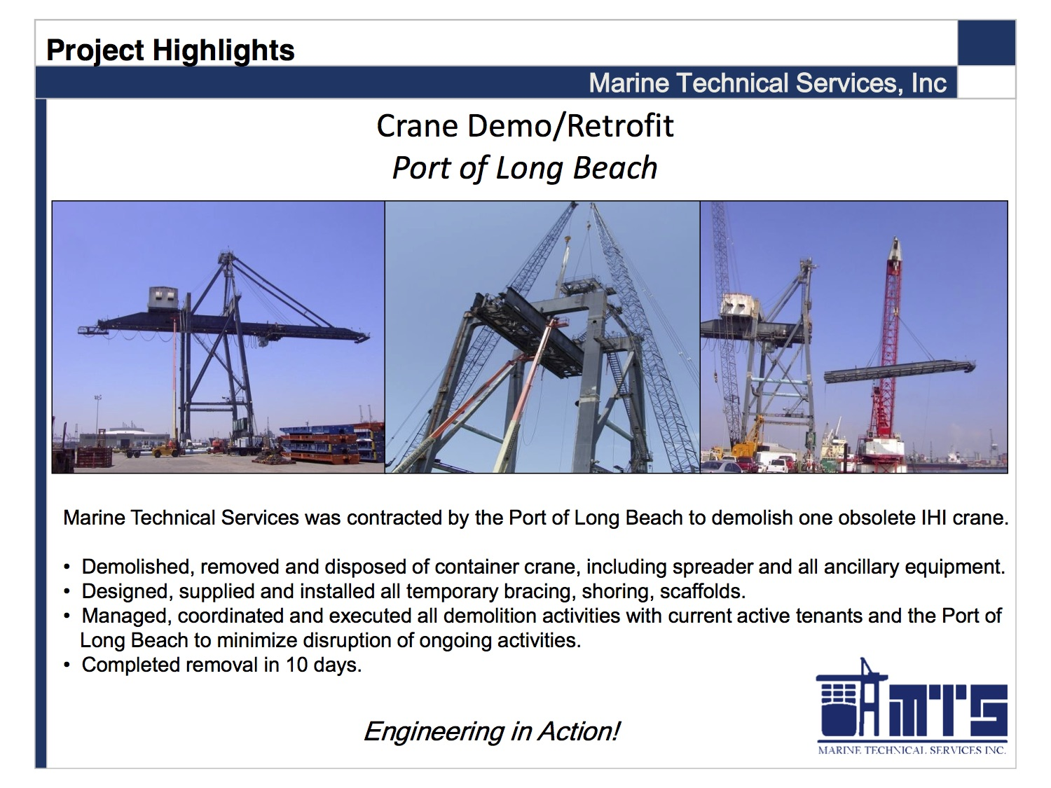 Projects Marine Technical Services Wilmington Ca